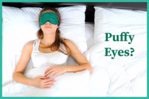 woman with a eye mask