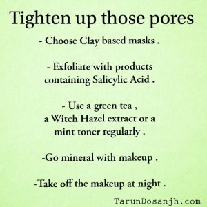 How To Tighten Up Your Skin Pores