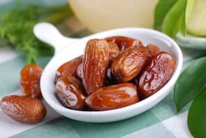 dates in small white bowl